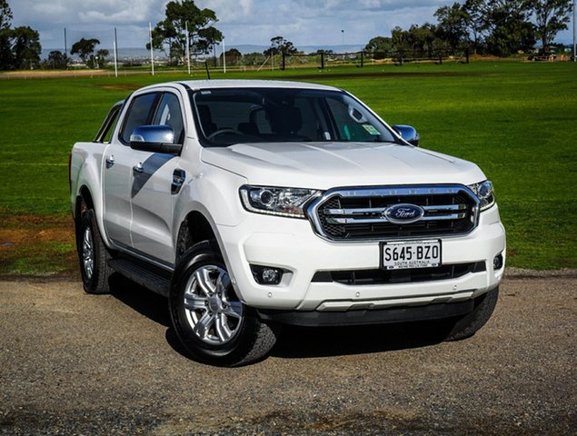Demo Ford Ranger PX MkIII 2019.00MY XLT Pick-up Double Cab, 2019 Ford Ranger PX MkIII 2019.00MY XLT Pick-up Double Cab Arctic White 6 Speed Sports Automatic