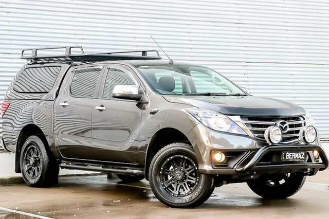 Demo Mazda BT-50 UR0YG1 GT, 2018 Mazda BT-50 UR0YG1 GT Titanium Flash Mica 6 Speed Sports Automatic Utility