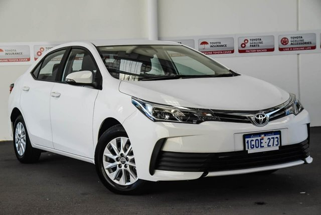 Used Toyota Corolla ZRE172R MY17 Ascent, 2018 Toyota Corolla ZRE172R MY17 Ascent Glacier White 7 Speed CVT Auto Sequential Sedan