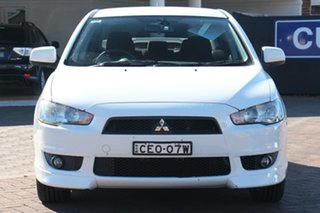 2011 Mitsubishi Lancer CJ MY11 VR-X White 6 Speed Constant Variable Sedan