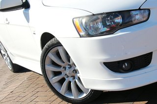 2011 Mitsubishi Lancer CJ MY11 VR-X White 6 Speed Constant Variable Sedan.