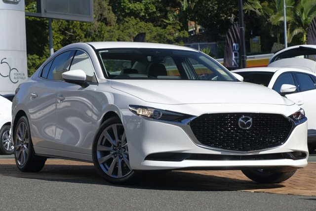New Mazda 3 BP2SLA G25 SKYACTIV-Drive GT Hillcrest, 2020 Mazda 3 BP2SLA G25 SKYACTIV-Drive GT Snowflake White 6 Speed Sports Automatic Sedan