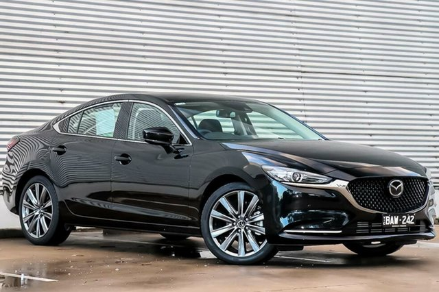 Demo Mazda 6 GL1032 GT SKYACTIV-Drive, 2018 Mazda 6 GL1032 GT SKYACTIV-Drive Jet Black 6 Speed Sports Automatic Sedan