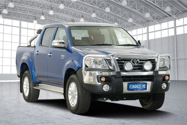 Used Toyota Hilux GGN25R MY14 SR5 Double Cab, 2014 Toyota Hilux GGN25R MY14 SR5 Double Cab Electric Blue 5 Speed Automatic Utility