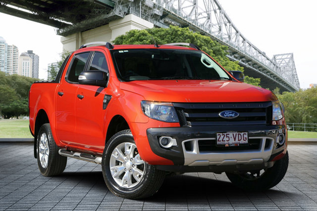 Used Ford Ranger PX Wildtrak Double Cab, 2014 Ford Ranger PX Wildtrak Double Cab Orange 6 Speed Sports Automatic Utility