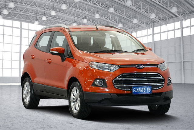 Used Ford Ecosport BK Titanium PwrShift, 2014 Ford Ecosport BK Titanium PwrShift Orange 6 Speed Sports Automatic Dual Clutch Wagon