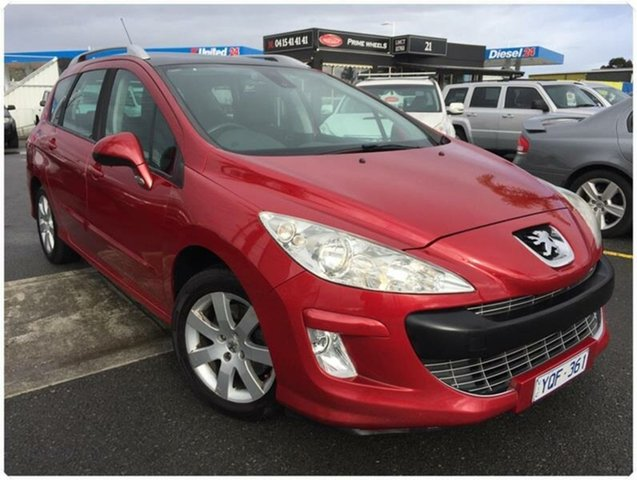 Used Peugeot 308 T7 XSE Turbo, 2011 Peugeot 308 T7 XSE Turbo Red Sports Automatic Hatchback