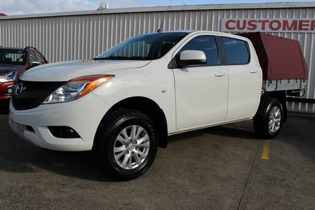 Used Mazda BT-50 UP0YF1 XT 4x2 Hi-Rider, 2015 Mazda BT-50 UP0YF1 XT 4x2 Hi-Rider White 6 Speed Manual Cab Chassis