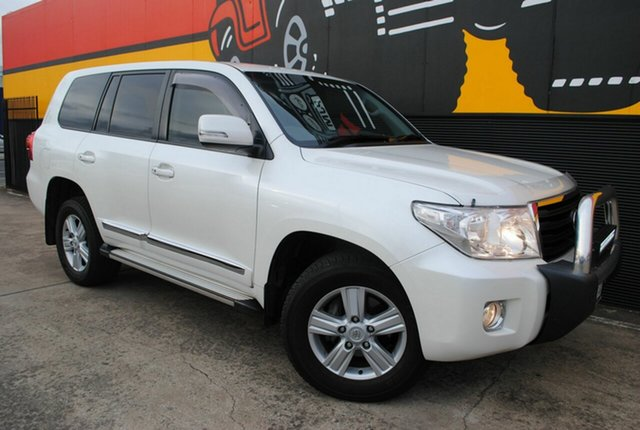 Used Toyota Landcruiser VDJ200R MY13 Altitude, 2014 Toyota Landcruiser VDJ200R MY13 Altitude Crystal Pearl 6 Speed Sports Automatic Wagon