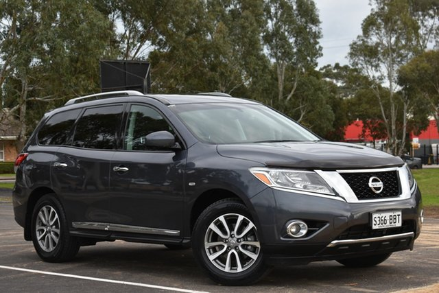 Used Nissan Pathfinder R52 MY14 ST-L X-tronic 2WD, 2014 Nissan Pathfinder R52 MY14 ST-L X-tronic 2WD Grey 1 Speed Constant Variable Wagon