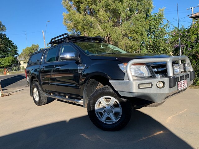 Used Ford Ranger PX XLT Double Cab, 2012 Ford Ranger PX XLT Double Cab Black 6 Speed Manual Utility