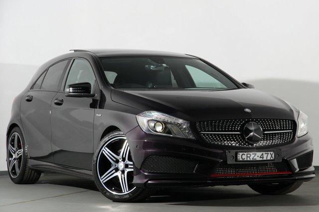 Used Mercedes-Benz A250 W176 Sport D-CT, 2014 Mercedes-Benz A250 W176 Sport D-CT Purple 7 Speed Sports Automatic Dual Clutch Hatchback