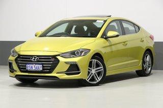 2017 Hyundai Elantra AD SR Turbo Blazing Yellow 7 Speed Auto Dual Clutch Sedan.