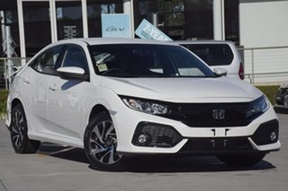 2019 Honda Civic 10th Gen MY19 VTi-S Platinum White 1 Speed Constant Variable Hatchback.