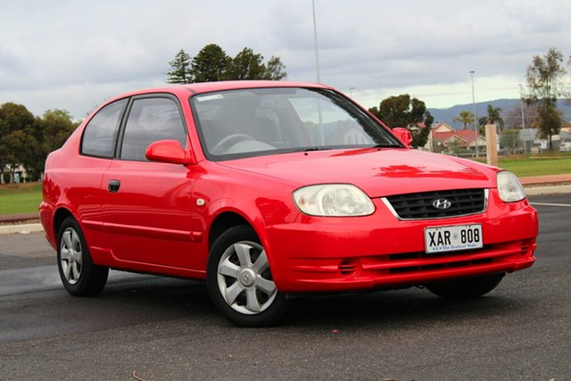 Used Hyundai Accent LC MY04 GL, 2004 Hyundai Accent LC MY04 GL Red 4 Speed Automatic Hatchback