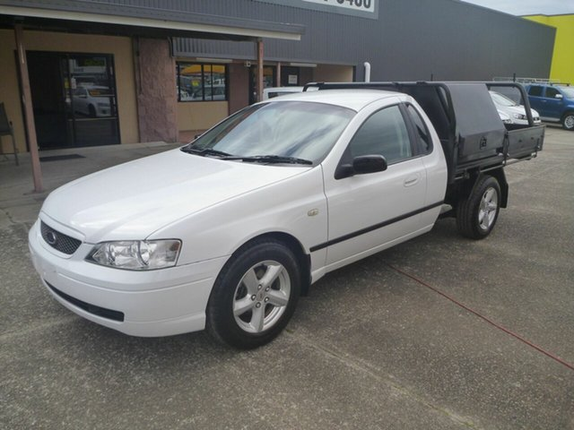 Used Ford Falcon BF XLS Super Cab, 2005 Ford Falcon BF XLS Super Cab White 4 Speed Sports Automatic Cab Chassis