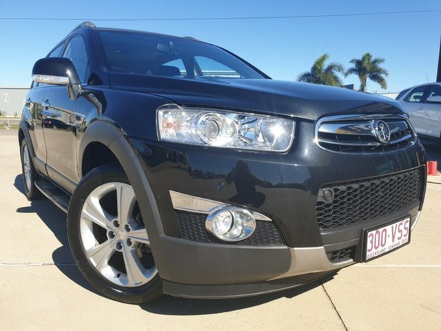 Used Holden Captiva CG Series II MY12 7 AWD LX, 2013 Holden Captiva CG Series II MY12 7 AWD LX Black/Grey 6 Speed Sports Automatic Wagon