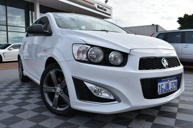 Used Holden Barina TM MY14 RS, 2013 Holden Barina TM MY14 RS White 6 Speed Sports Automatic Hatchback