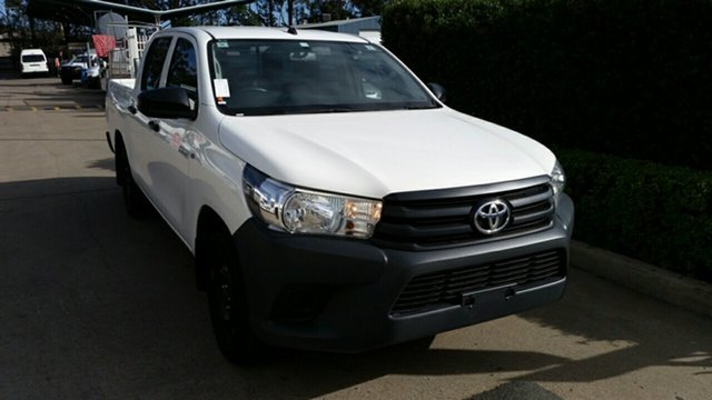 Used Toyota Hilux GUN122R Workmate Double Cab 4x2, 2017 Toyota Hilux GUN122R Workmate Double Cab 4x2 Glacier 5 Speed Manual Utility