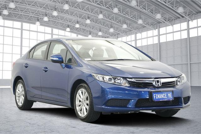 Used Honda Civic 9th Gen VTi-L, 2012 Honda Civic 9th Gen VTi-L Blue 5 Speed Sports Automatic Sedan