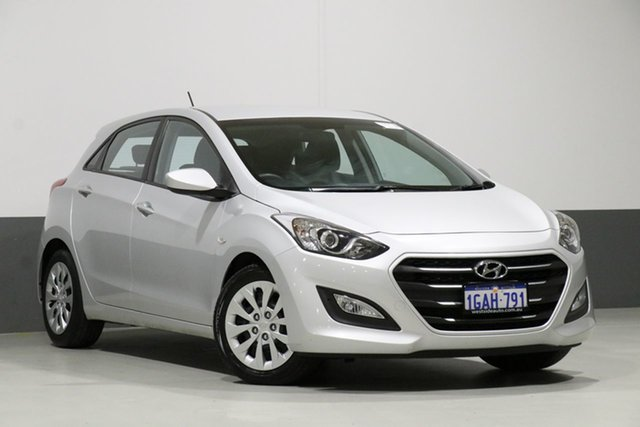 Used Hyundai i30 GD4 Series 2 Active, 2016 Hyundai i30 GD4 Series 2 Active Silver 6 Speed Automatic Hatchback