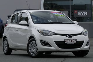 2014 Hyundai i20 PB MY14 Active White 6 Speed Manual Hatchback.