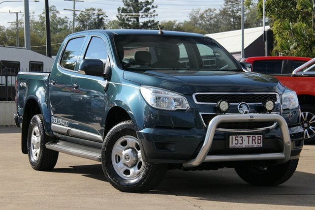 Used Holden Colorado RG MY13 LX Crew Cab, 2013 Holden Colorado RG MY13 LX Crew Cab Blue 6 Speed Sports Automatic Utility