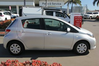 2014 Toyota Yaris NCP130R YR Silver Pearl 4 Speed Automatic Hatchback.