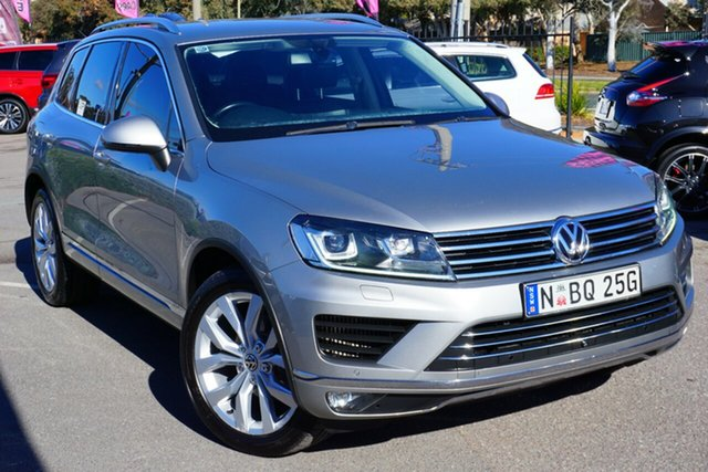 Used Volkswagen Touareg 7P MY15 V6 TDI Tiptronic 4MOTION, 2015 Volkswagen Touareg 7P MY15 V6 TDI Tiptronic 4MOTION Silver 8 Speed Sports Automatic Wagon