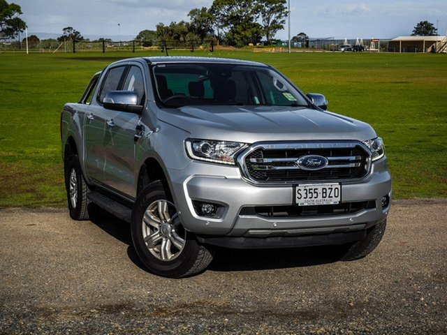 Demo Ford Ranger PX MkIII 2019.00MY XLT Pick-up Double Cab, 2018 Ford Ranger PX MkIII 2019.00MY XLT Pick-up Double Cab Ingot Silver 6 Speed Sports Automatic