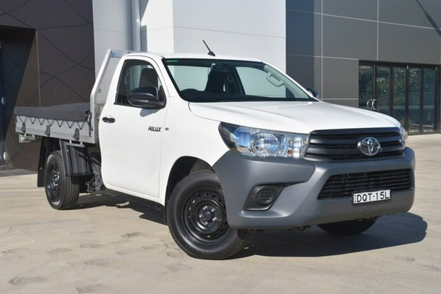 Used Toyota Hilux TGN121R Workmate 4x2, 2017 Toyota Hilux TGN121R Workmate 4x2 White 5 Speed Manual Cab Chassis