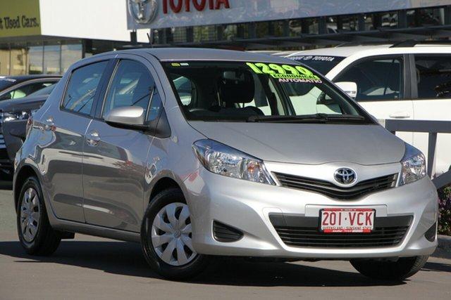 Used Toyota Yaris NCP130R YR, 2014 Toyota Yaris NCP130R YR Silver Pearl 4 Speed Automatic Hatchback