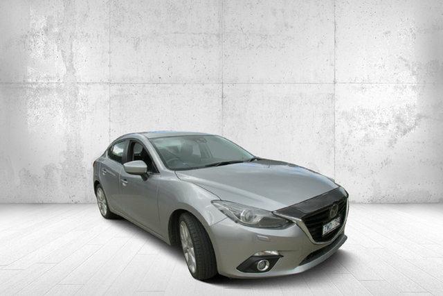 Used Mazda 3 BM5238 SP25 SKYACTIV-Drive Astina, 2014 Mazda 3 BM5238 SP25 SKYACTIV-Drive Astina Silver 6 Speed Sports Automatic Sedan
