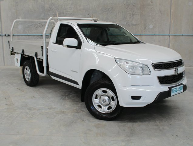 Used Holden Colorado RG MY16 LS 4x2, 2015 Holden Colorado RG MY16 LS 4x2 White 6 Speed Manual Cab Chassis