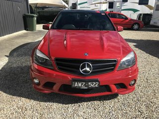 2010 Mercedes-Benz C63 W204 AMG Red 7 Speed Sports Automatic Sedan.