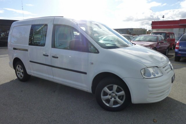 Used Volkswagen Caddy 2KN Maxi DSG, 2008 Volkswagen Caddy 2KN Maxi DSG White 6 Speed Sports Automatic Dual Clutch Van