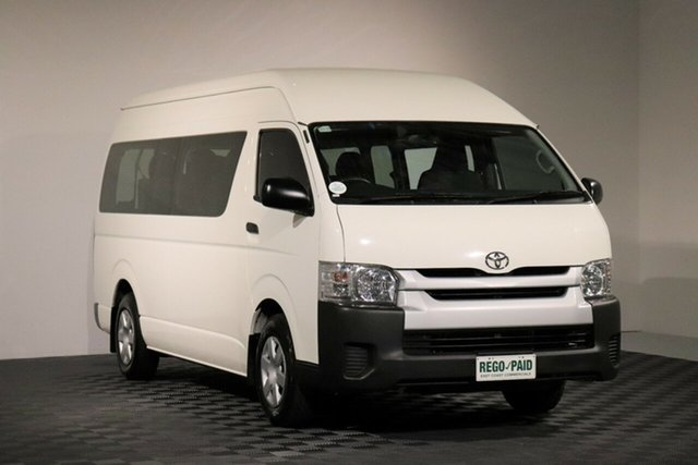 Used Toyota HiAce TRH223R Commuter High Roof Super LWB, 2016 Toyota HiAce TRH223R Commuter High Roof Super LWB White 6 Speed Automatic Bus