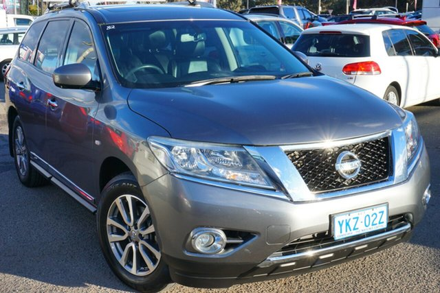 Used Nissan Pathfinder R52 MY15 ST-L X-tronic 2WD, 2015 Nissan Pathfinder R52 MY15 ST-L X-tronic 2WD Gun Metallic 1 Speed Constant Variable Wagon