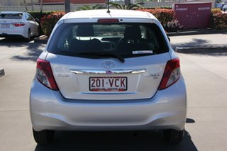 2014 Toyota Yaris NCP130R YR Silver Pearl 4 Speed Automatic Hatchback