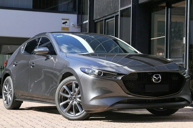 New Mazda 3 BP2HLA G25 SKYACTIV-Drive GT, 2019 Mazda 3 BP2HLA G25 SKYACTIV-Drive GT Machine Grey 6 Speed Sports Automatic Hatchback