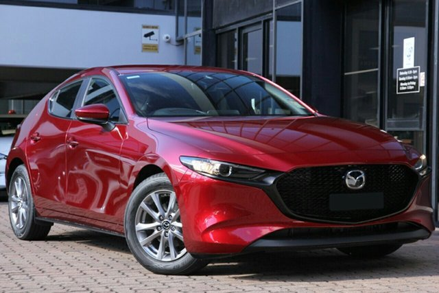 New Mazda 3 BP2H7A G20 SKYACTIV-Drive Pure Paradise, 2020 Mazda 3 BP2H7A G20 SKYACTIV-Drive Pure Soul Red 6 Speed Sports Automatic Hatchback