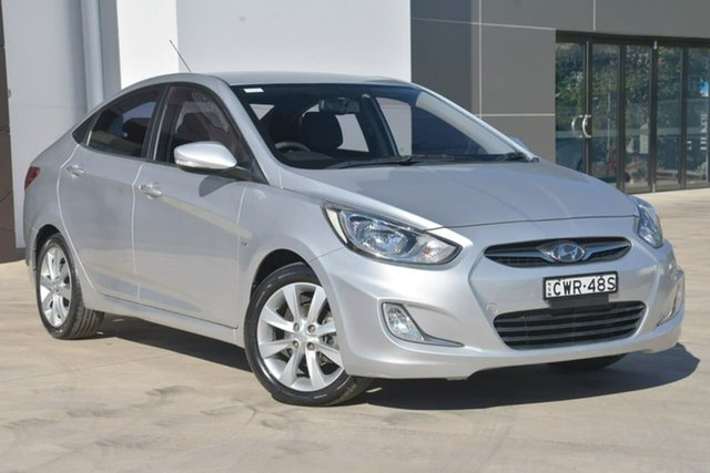 Used Hyundai Accent RB Premium, 2012 Hyundai Accent RB Premium Silver 4 Speed Sports Automatic Sedan