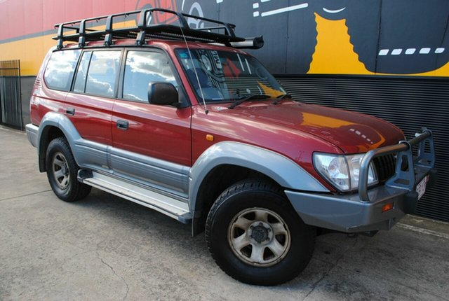 Used Toyota Landcruiser Prado KZJ95R GXL, 2000 Toyota Landcruiser Prado KZJ95R GXL Red Metallic 5 Speed Manual Wagon