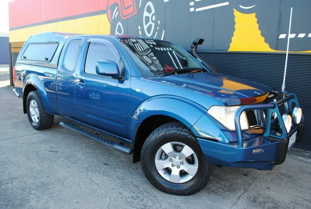 Used Nissan Navara D40 ST-X King Cab, 2009 Nissan Navara D40 ST-X King Cab Reefblue 5 Speed Automatic Utility