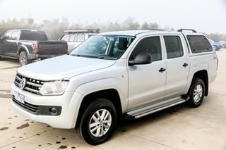 2015 Volkswagen Amarok 2H MY16 TDI420 4MOTION Perm Core Silver 8 Speed Automatic Utility.