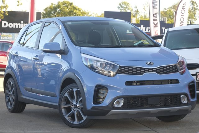 Demo Kia Picanto JA MY19 X-Line, 2019 Kia Picanto JA MY19 X-Line Alice Blue 5 Speed Manual Hatchback