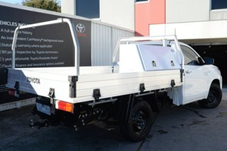 2015 Toyota Hilux GUN123R SR 4x2 Glacier White 5 Speed Manual Cab Chassis.