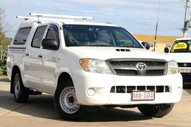 Used Toyota Hilux KUN16R MY08 SR 4x2, 2008 Toyota Hilux KUN16R MY08 SR 4x2 White 5 Speed Manual Utility