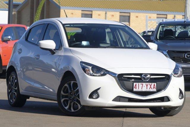 Used Mazda 2 DJ2HA6 Genki SKYACTIV-MT, 2016 Mazda 2 DJ2HA6 Genki SKYACTIV-MT Snowflake White 6 Speed Manual Hatchback