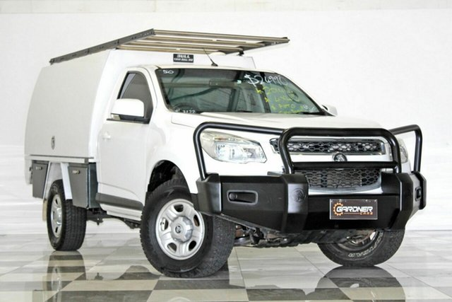 Used Holden Colorado RG MY14 LX (4x4), 2014 Holden Colorado RG MY14 LX (4x4) White 6 Speed Automatic Cab Chassis